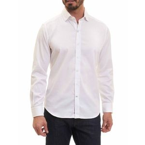 Robert Graham White Button Down Shirt 46 18 2XL